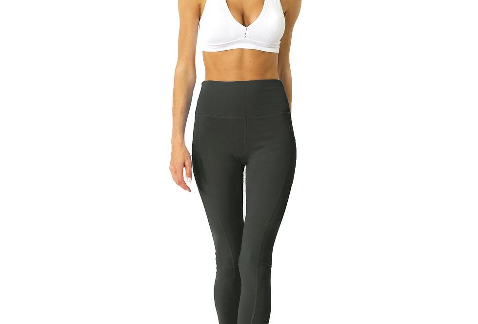 Revanel High Waisted Yoga Leggings - Slate Grey