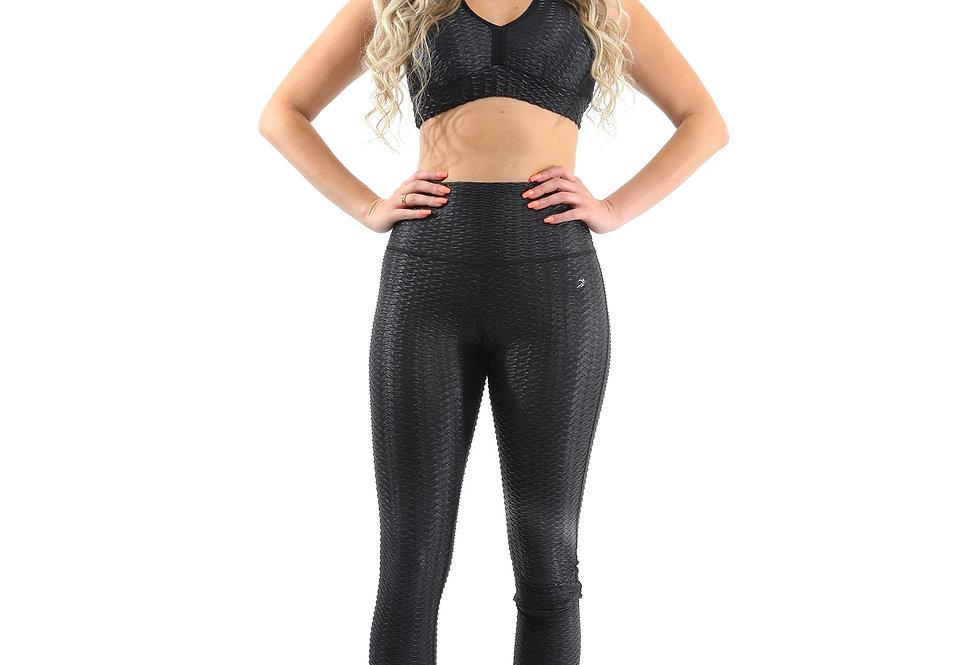 Revanel  Genova Activewear Set - Leggings & Sports Bra - Black - Size Small