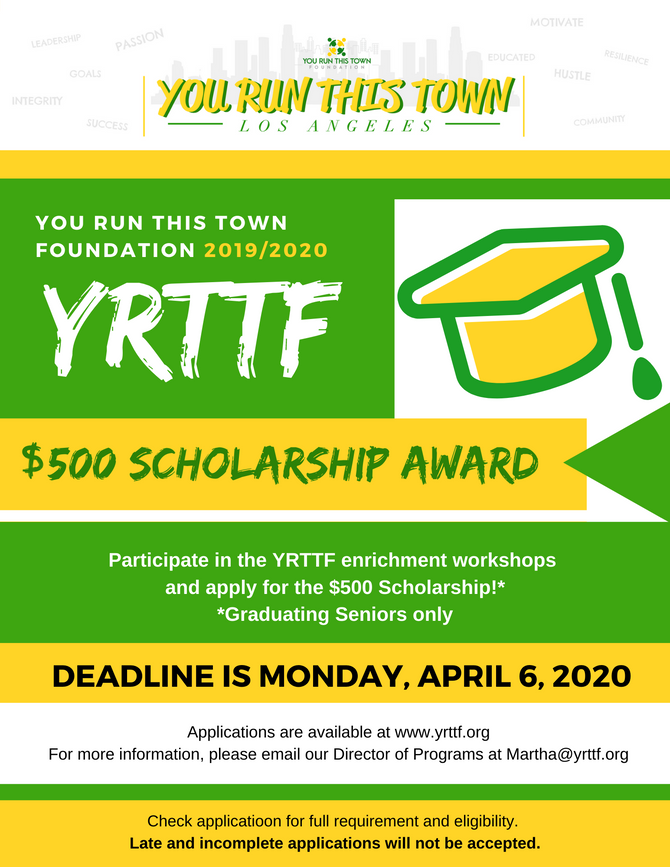 YRTTF 2019/2020 Scholarship