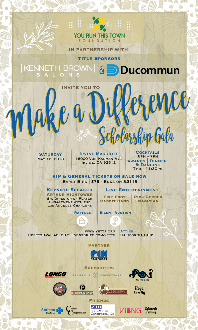 2018 Make A Difference Scholarship Gala