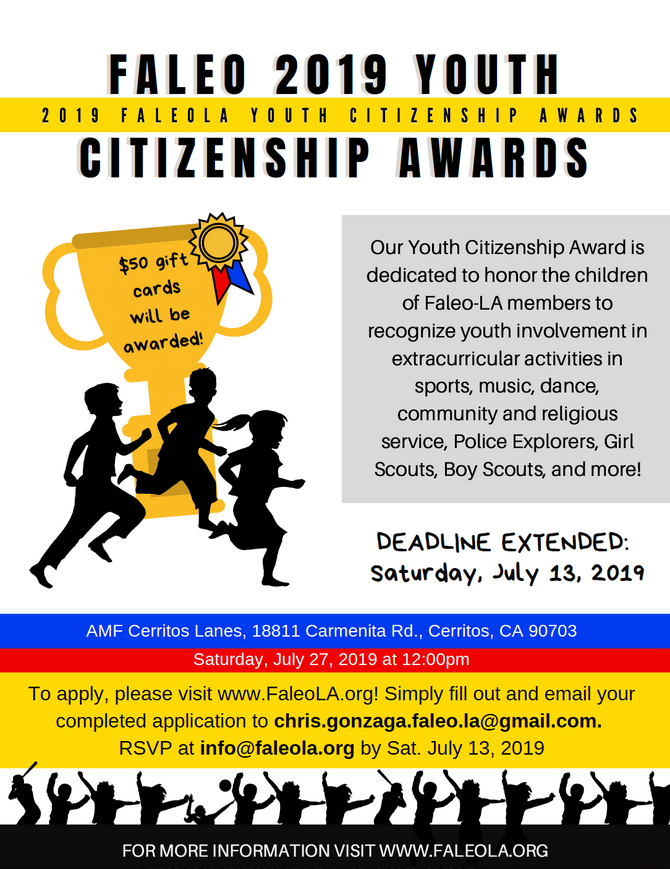 YOUTH CITIZENSHIP AWARDS 2019