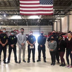 LB Fire Department Meals for Heroes Donation