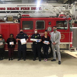 LB Fire Station Meals For Heroes Donation