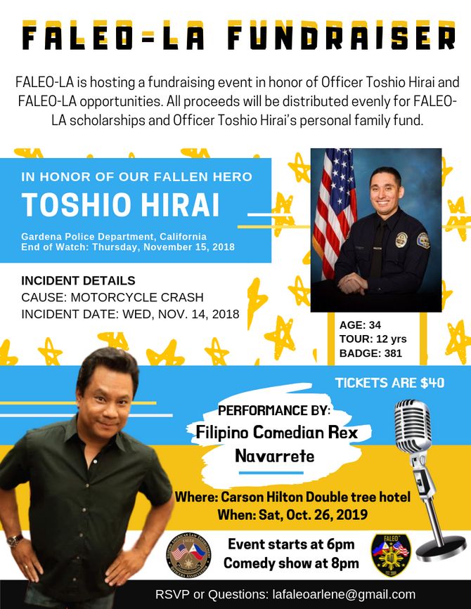 FALEO-LA FUNDRAISER FOR OFFICER TOSHIO HIRAI