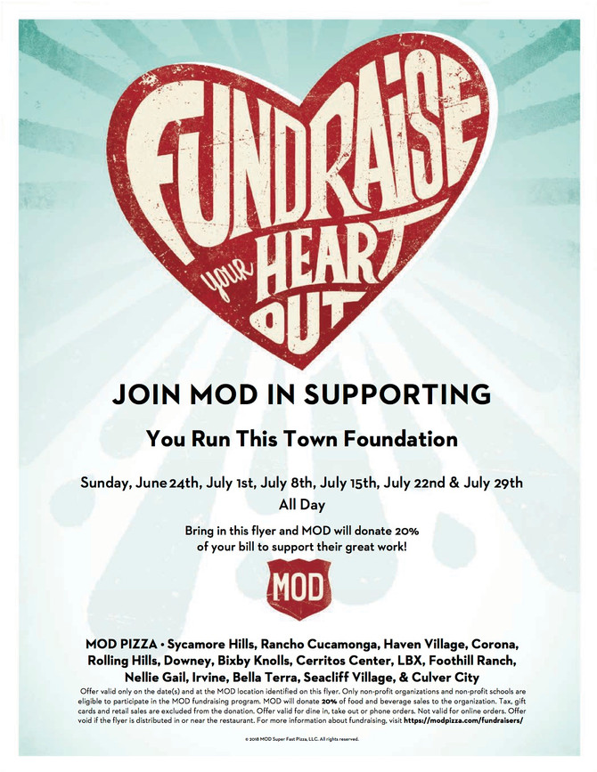 MOD Pizza Summer of Fun-raiser!
