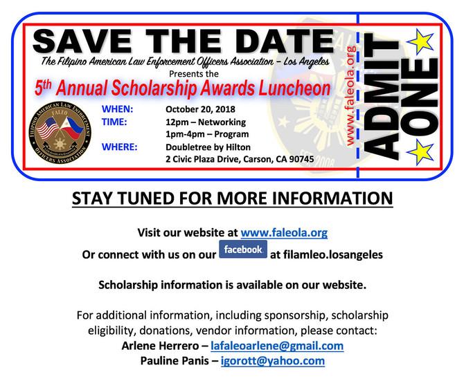 5th annual scholarship dinner