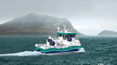 First hybrid vessel in Scottish aquaculture