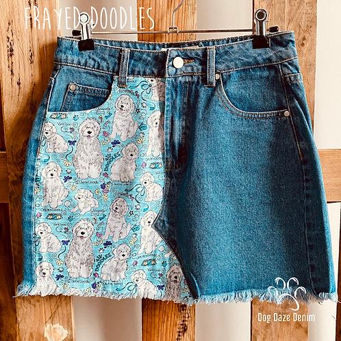 Denim Skirts -BLUE
