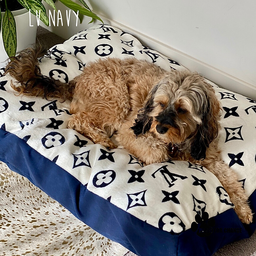 Designer Inspired Plush Dog Beds