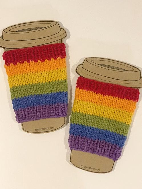 Rainbow stripes Cup Cozie