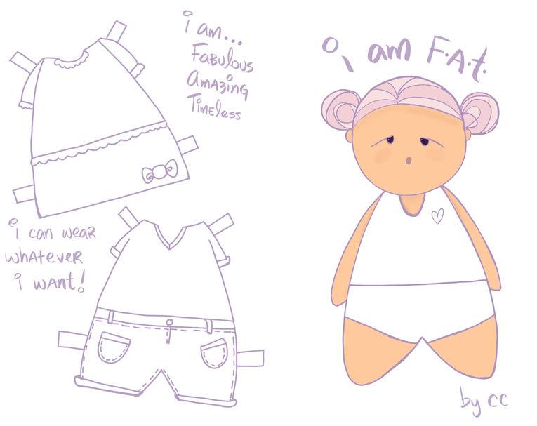I am FAT by CC - Body Positive Zine