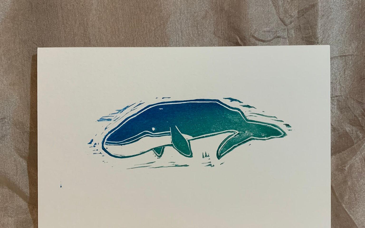 humpback print