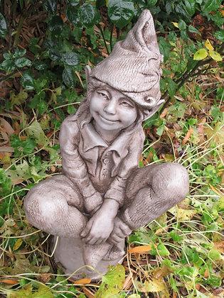 Vidroflor; Fiona Scott; Elfe; Susan; Skulptur; auf Blumentopf; Steinguss; PGS009; Fee