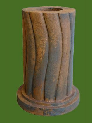 Säule für Tristan und Isolde; Liebespaar; Vidroflor; Edition Oxid; 116041EO; 116040EO; Steinguss; geschwungen; rund; Galarosa