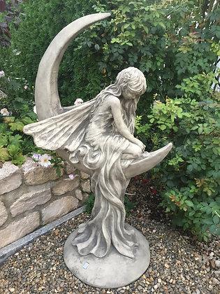 Mondtraum; Mondfee; Lunaria; Vidroflor; Galarosa; 114250; Antik; Gartenfigur zum Träumen; Skulptur; Steinguss