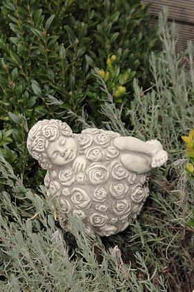 Sprössling Rosenkugel; Vidroflor; Steinguss; frostfest; 114451; Deko Rosenbeet; auf Stab; zum Stellen; zum Stecken; Skulptur