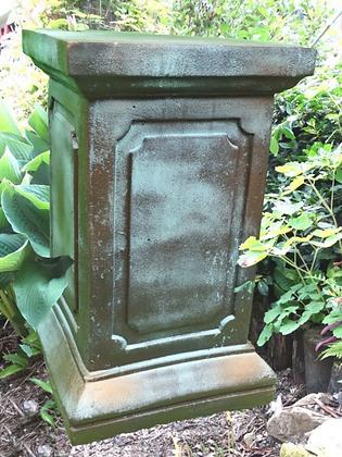 Säule für Engel Rachel groß; Steinguss; Bronze Effekt; Vidroflor; 114925BR; viereckig; Podest