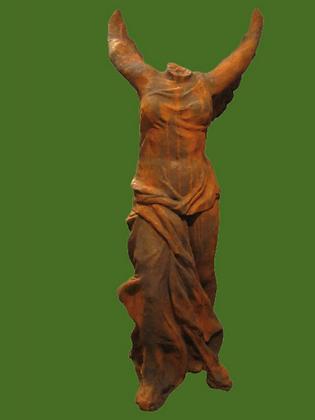 Nike; Steinguss; Vidroflor; 8088EO; 8088; Edition Oxid; griechische Siegesgöttin; Skulptur; Gartenfigur; Figur ohne Kopf