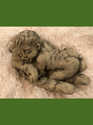 Vidroflor; Baby; in Hand; Nima; Steinguss; 114721; Troll Carlos; Magnus; Galarosa; Geschenk zur Geburt; Gartendeko