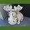 Elch; klein; Vidoflor; Alfons; Junior; Steinguss; Antik; grau; 114740; Gartendeko; Topfdeko; Weihnachtsdeko; Winterdeko