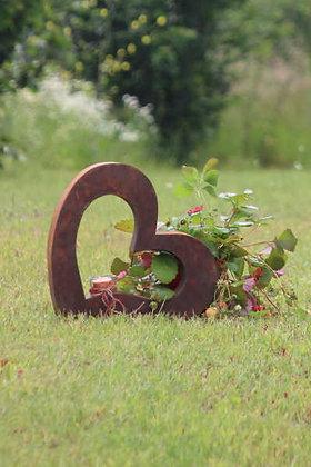 Metallobjekt; Herz; klein; incl. Glas; Vidroflor; Rost; Metall; 65003; Dekoherz; Gartendeko; Liebesherz; Rostdeko Garten