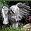 Zimmerdekoration; Raumskulptur; Gartenfigur; Vidroflor; kleine Eule; dunkler Steinguss; 121008; Galarosa
