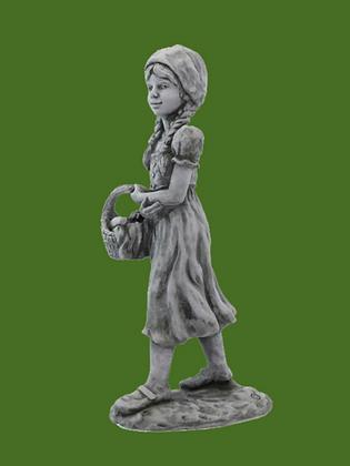 Rotkäppchen; Gebrüder Grimm; Steinguss; Vidroflor; Antik; Märchenfigur; Gartenfigur; 114230; 114231; Wolf; Skulptur