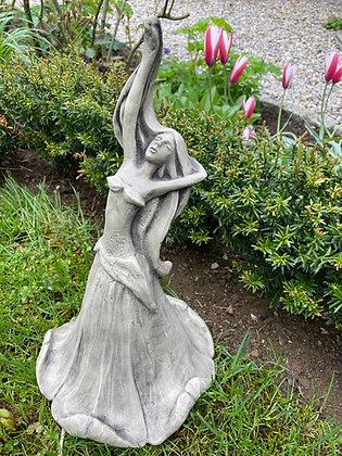 Blütentänzerin Ackerwinde; Zauberblume; Galarosa; Schaugarten; 19-92014; Gartenfigur; Steinguss; Beton; für Metallstab; Deko