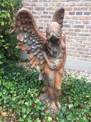 Engel Shekinah; Ramona; die weise Beschützerin; Vidroflor; Steinguss, Rosteffekt; 8086R; Schutzengel; Gartenfigur; Galarosa