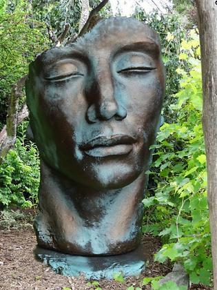 Gesicht Mann; groß, Platte; Vidroflor; 8081BR; 8081; Vidroflor; Steinguss; Bronze Effekt