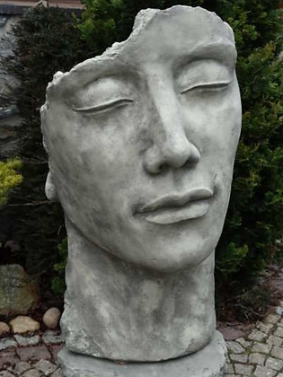 Gesicht Mann; groß; inkl. Platte zur Montage; Steinguss; Antik; 8081; Vidroflor; Galarosa; Gartenfigur; Skulptur; Kopf; Deko
