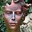 Gesicht Frau; Steinguss; Kupfereffekt mittel; Vidroflor; 116551K; modern; weiblicher Kopf; Galarosa; Skulptur; Gartenfigur