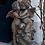 Vidroflor; Der erste Kuss; 114502; Rosteffekt; Steinguss; Gartenskulptur; Gartenfigur; küssende Engel; Engelkuss; Steinfigur
