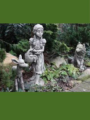 Rotkäppchen und der Wolf und Rehkitz; Grimm; Märchenwald; Gartendeko; Steinguss; Vidroflor; 114230; 114231; 114273; Garten