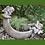 Mondschale Luna; Steinguss; Antik; Steinguss; Vidroflor; 114402; Pflanzschale Elfen; Feen; Pflanzfigur