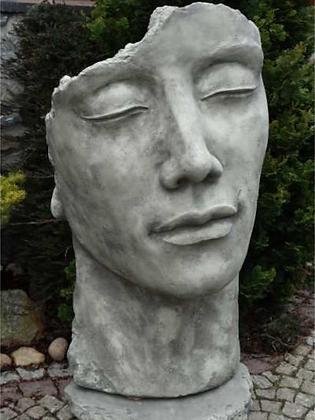 Gesicht Mann; groß; Platte; Antik; Steinguss; 8081; Vidroflor; Kopf