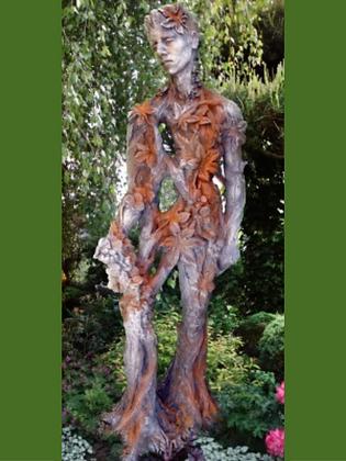 König der Natur; Artur; Vidroflor; Steinguss; Rosteffekt; 118601R; Blätter; Baum; Wurzelmann; Galarosa; Skulptur; Gartenfigur