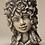 Zauberblume; Blütentopf; Sommer; frostfest; Betonguss; Steinguß; 24-60029; Gesicht; Kopf; zum Bepflanzen; bepflanzbar; Topf