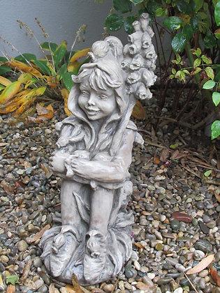 Flower Fairy; Muscari; Hyazinthe; Vidroflor; Steinguss; Elfe; Blumenfee; Blumenelfe; 8022; Galarosa; Gartenfigur; Skulptur