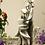 Zauberblume; Vasenfigur; Schneeglöckchen; Elisa; Steinguss; frostfester Betonguss; Blumenvase; inkl. Reagenzglas; Tischdeko