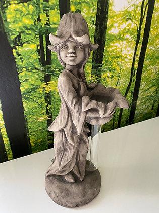 Galarosa; Zauberblume; Vasenfigur; Glockenblume; Maritta; Betonguss; Schaugarten; Tischvase aus Stein; mit Reagenzglas