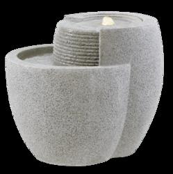 Fountainslite; Komplett-Brunnen; Esteras; Emsa; Comallo 48 Granite Grey; granitgrau; 8512320848; LED; Bachlauf; Galarosa