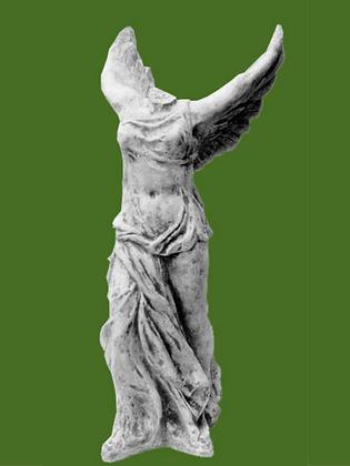 Nike, Steinguss; Vidroflor; Antik; 8088; Gartenfigur; Skulptur; kopflos; Gott; griechische Siegesgöttin