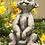 Zauberblume; Erdmännchen; Kind; Moritz; Betonguss; Steingussfigur; frostfest; Dekoration; Steintier; Betontier; sitzend