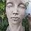 Gesicht klein; Frau; Vidroflor; 116501; Steinguss; Farbe Antik; Kopf; Galarosa; Schaugarten; Gartenfigur; Skulptur; modern
