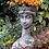 Vidroflor; Pflanzkopf; Königin; FS2101; Steinguss; Kopf zum Bepflanzen; Pflanztopf; Pflanzgefäß; Blumenkopf; Blumengefäß