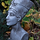 Vidroflor; Steinguss; Pflanzkopf Nofretete; Skulptur; Fiona Scott; grau; Antik; Gartenfigur zum Bepflanzen; Galarosa