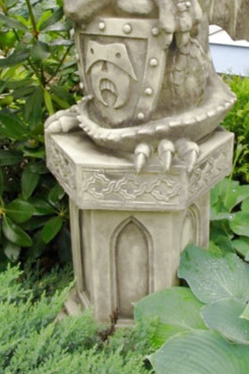 Sockel für Türwächter; sechseckig; Steinguss; Vidroflor; Devonshire; Gartenfigur; 1241