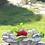 Rosenschale; Steinguss; Vidroflor; Galarosa; Herzen und Rosen; 114733; Tischdekoration; Schönes für den Tisch