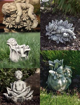 Sprösslinge; Vidroflor; Steinguss; Glockenblume; Brennende Liebe; Lotusblume; Sonnenblume; Tulpe; günstiger im Set; Galarosa